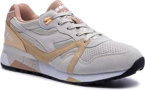 Buty sportowe Diadora w sportowym stylu ze skóry sznurowane