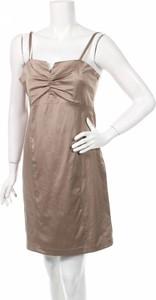 Brązowa sukienka Striking mini
