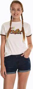 T-shirt Gate z bawełny z krótkim rękawem z okrągłym dekoltem