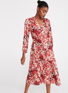 Sukienka Reserved z długim rękawem kopertowa