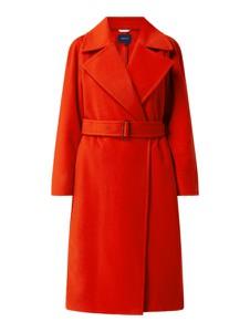 Czerwony płaszcz Gant bez kaptura długi w stylu casual