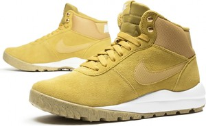 Buty zimowe Nike z zamszu sznurowane