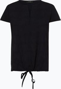 Granatowa bluzka Opus z okrągłym dekoltem z krótkim rękawem