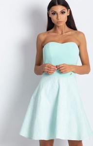 Niebieska sukienka Factory Price mini z tiulu gorsetowa