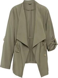 Zielona kurtka bonprix w stylu casual krótka