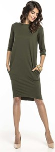 Sukienka Tessita midi z bawełny z długim rękawem