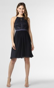 Czarna sukienka Marie Lund bez rękawów mini z okrągłym dekoltem