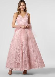 Fioletowa sukienka Unique rozkloszowana bez rękawów