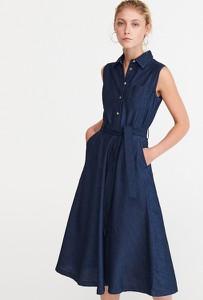 71abc21a283740 Sukienka Reserved bez rękawów z jeansu w street stylu