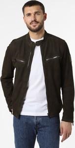 Czarna kurtka Strellson krótka ze skóry w stylu casual