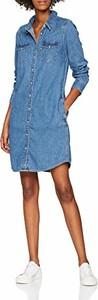Sukienka amazon.de koszulowa mini z długim rękawem