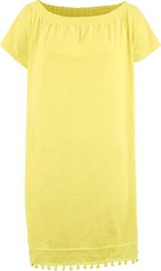 Żółta sukienka bonprix bpc bonprix collection