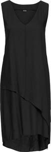 Czarna sukienka bonprix bodyflirt bez rękawów midi na spacer
