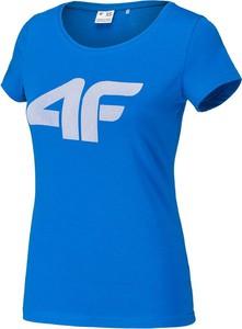 T-shirt 4F w sportowym stylu z okrągłym dekoltem
