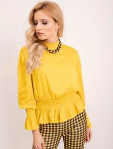 Żółta bluzka Sheandher.pl z długim rękawem