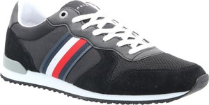 Tommy Hilfiger Sneakersy ICONIC   z dodatkiem skóry