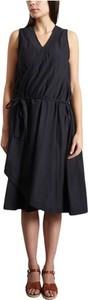 Czarna sukienka Diega z dekoltem w kształcie litery v