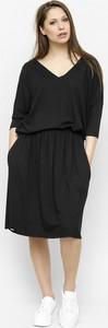 Czarna bluzka Freeshion w stylu casual