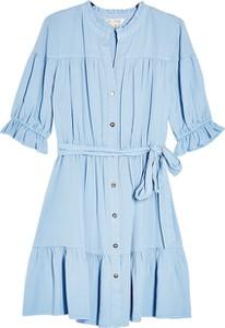 Niebieska sukienka Miss Selfridge koszulowa w stylu casual