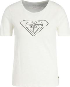 T-shirt Roxy z okrągłym dekoltem z nadrukiem w młodzieżowym stylu