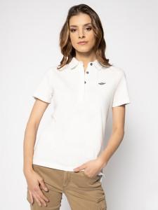 T-shirt Aeronautica Militare w militarnym stylu z krótkim rękawem