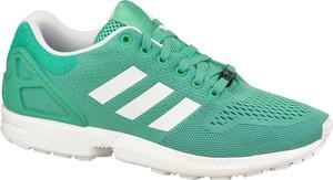 Miętowe buty sportowe Adidas zx flux sznurowane