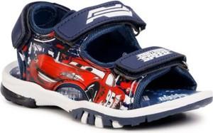 Granatowe buty dziecięce letnie CARS