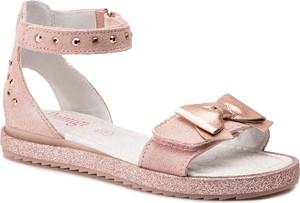 Różowe buty dziecięce letnie Primigi ze skóry na rzepy