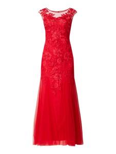 Czerwona sukienka Mascara z krótkim rękawem maxi
