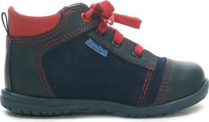 Buty dziecięce zimowe RenBut sznurowane ze skóry