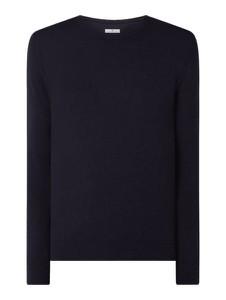 Granatowy sweter Tom Tailor z bawełny w stylu casual