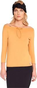Bluzka By Insomnia z okrągłym dekoltem z bawełny w stylu casual