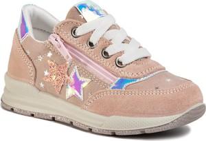 Różowe buty sportowe dziecięce Sergio Bardi z zamszu