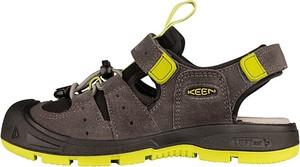 Brązowe buty dziecięce letnie Keen na rzepy dla chłopców