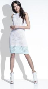Sukienka FLORENCE w stylu casual dopasowana z lnu