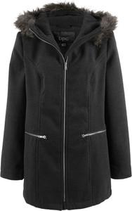 Czarna kurtka bonprix bpc bonprix collection z wełny