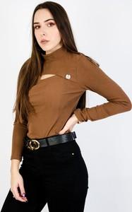 Brązowa bluzka Olika w stylu casual