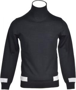 Czarny sweter Paolo Pecora Milano z wełny