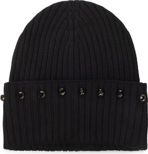 Czarna czapka Trussardi Jeans