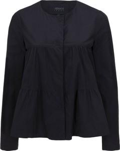 Czarna kurtka Armani Jeans z tkaniny krótka