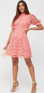 Różowa sukienka V by Very mini