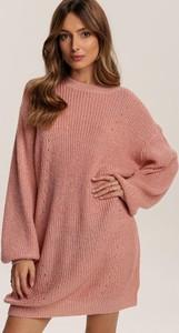 Różowa tunika Renee z długim rękawem