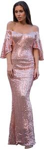 Różowa sukienka Elegrina maxi