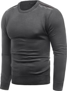 Sweter Risardi w stylu casual z okrągłym dekoltem