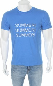 Niebieski t-shirt Anitaliantheory z krótkim rękawem
