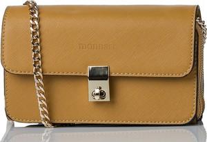 Brązowa torebka Monnari na ramię w stylu glamour