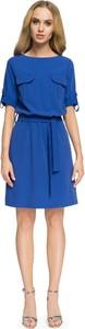 Niebieska sukienka Stylove midi w stylu casual