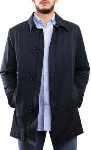 Niebieski płaszcz męski Klout