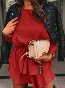Sukienka Pakuten z bawełny oversize z długim rękawem