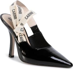 Czarne sandały eobuwie.pl na wysokim obcasie